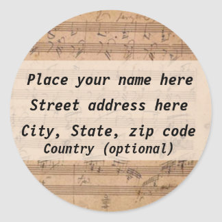 Beethoven Address Label