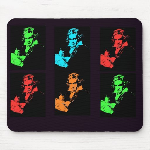 Beethoven Collage Mouse Pad