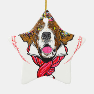 Beethoven Dog Ceramic Ornament