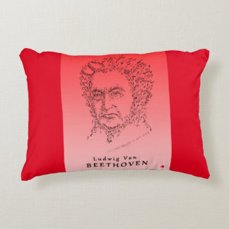Beethoven Face the Music 2-colored Decorative Pillow