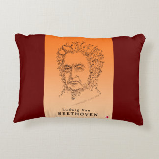 Beethoven Face the Music Decorative Pillow