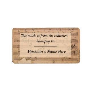 Beethoven Hammerklavier Sonata Manuscript Label