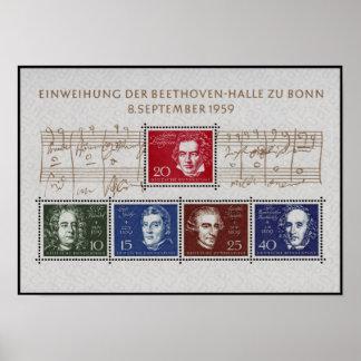Beethoven Handel Spohr Haydn Mendelssohn Poster