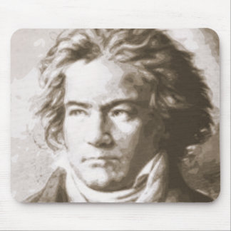Beethoven In Sepia Mouse Pad