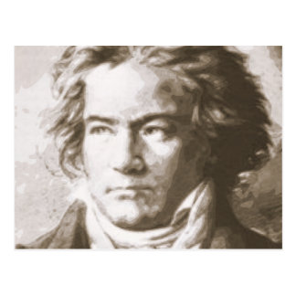 Beethoven In Sepia Postcard