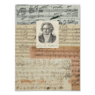 Beethoven Manuscripts Poster
