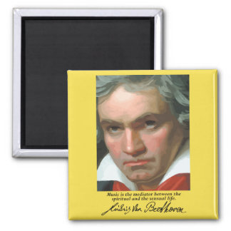 Beethoven 'Music is the mediator' quote magnet