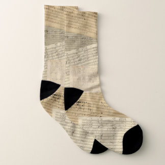 Beethoven Music Manuscript Collage Socks