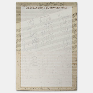 Beethoven Music Manuscript Medley Custom Name Post-it Notes