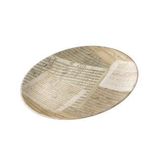 Beethoven Music Manuscript Medley Porcelain Plate