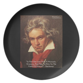 "Beethoven ""Of Heaven"" Love Quote Plates"