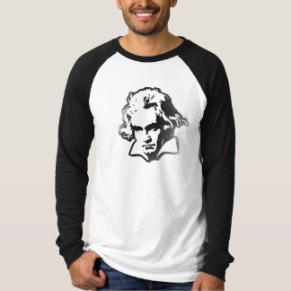 Beethoven on LS Black Baseball Tee