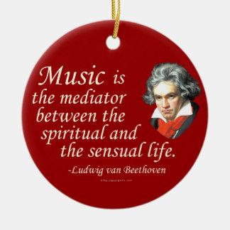 Beethoven on Music Ceramic Ornament