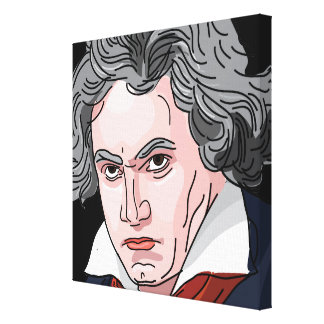 Beethoven Portrait Illustration Canvas Print