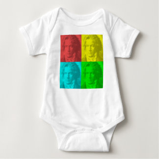 Beethoven Portrait In Squares Baby Bodysuit