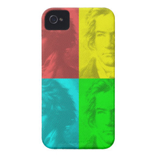 Beethoven Portrait In Squares iPhone 4 Cover