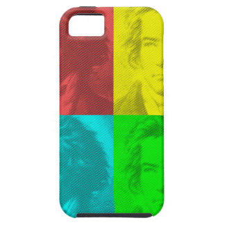 Beethoven Portrait In Squares iPhone 5 Cases