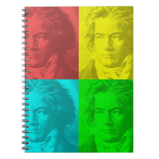 Beethoven Portrait In Squares Notebooks