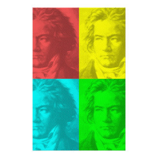 Beethoven Portrait In Squares Stationery