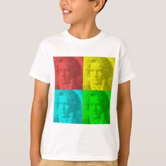 Beethoven Portrait In Squares T-Shirt