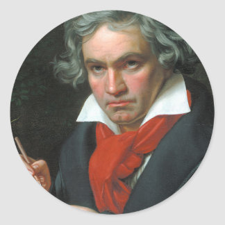 Beethoven Product Fine Art Classical Collection Round Sticker