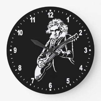 Beethoven Rock! Large Clock