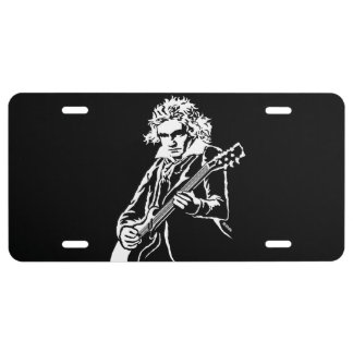 Beethoven Rock! License Plate