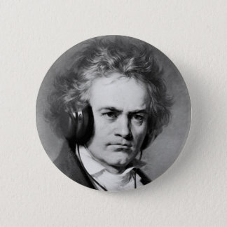 Beethoven Rocks 2 Inch Round Button