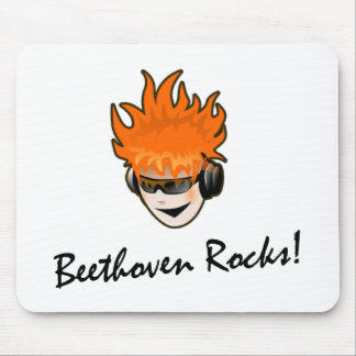 Beethoven Rocks! Mouse Pad
