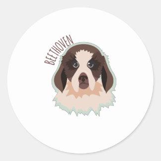 Beethoven Round Stickers