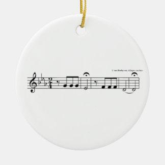 Beethoven Symphony No. 5 Ceramic Ornament