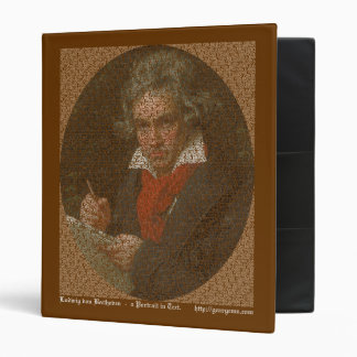 Beethoven text portrait vinyl binders