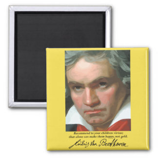 Beethoven 'Virtue' inspirational quote magnet