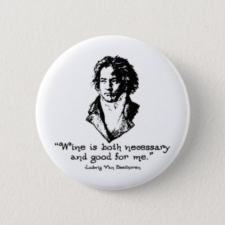 Beethoven - Wine 2 Inch Round Button