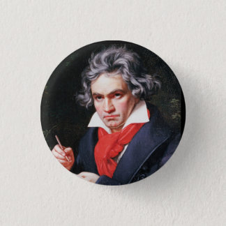 Beethoven writing 1 inch round button