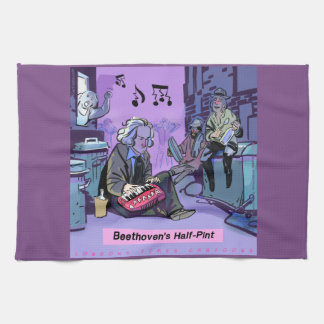 Beethoven's Half Pint Funny Kitchen Towel