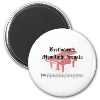 beethovens moonlight sonata  gifts 2 inch round magnet
