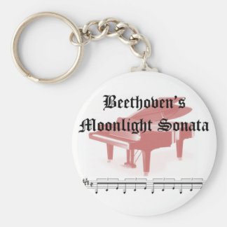 beethovens moonlight sonata  gifts basic round button keychain