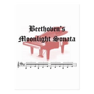 beethovens moonlight sonata  gifts postcard
