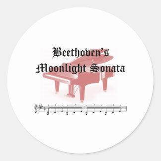 beethovens moonlight sonata gifts sticker