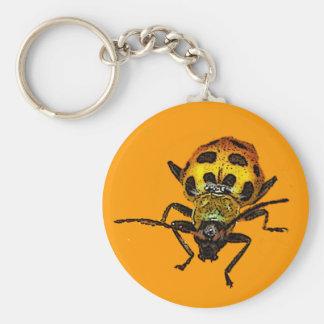 Beetle Basic Round Button Keychain