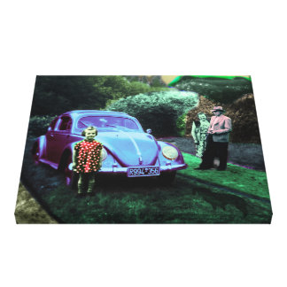 Beetle girl canvas print