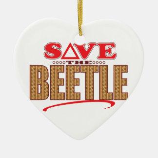 Beetle Save Ceramic Ornament