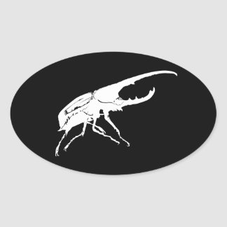Beetle Oval Stickers