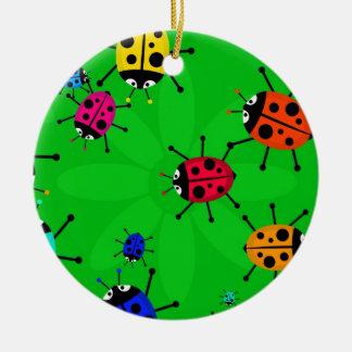 Beetle Swarm Ceramic Ornament