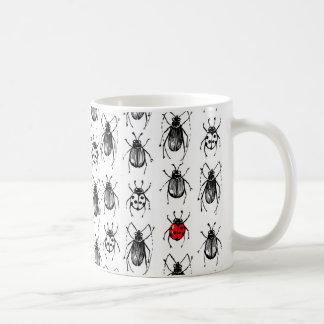 Beetles and ladybug coffee mug