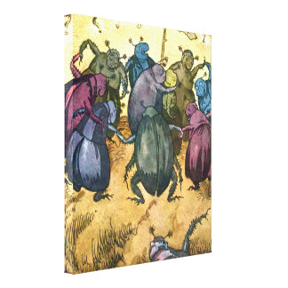 Beetles Celebrating Midsummer Canvas Print