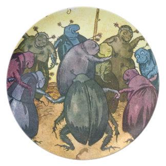 Beetles Celebrating Midsummer Plates