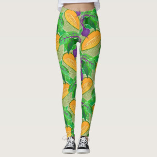 Beets and Cantaloupes gardening gear Leggings