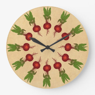 Beets Illustration Large Clock